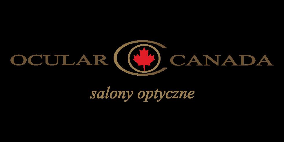 Logo Ocular Canada, gdzie można kupić okulary oraz soczewki, a także skorzystać z badania wzroku.