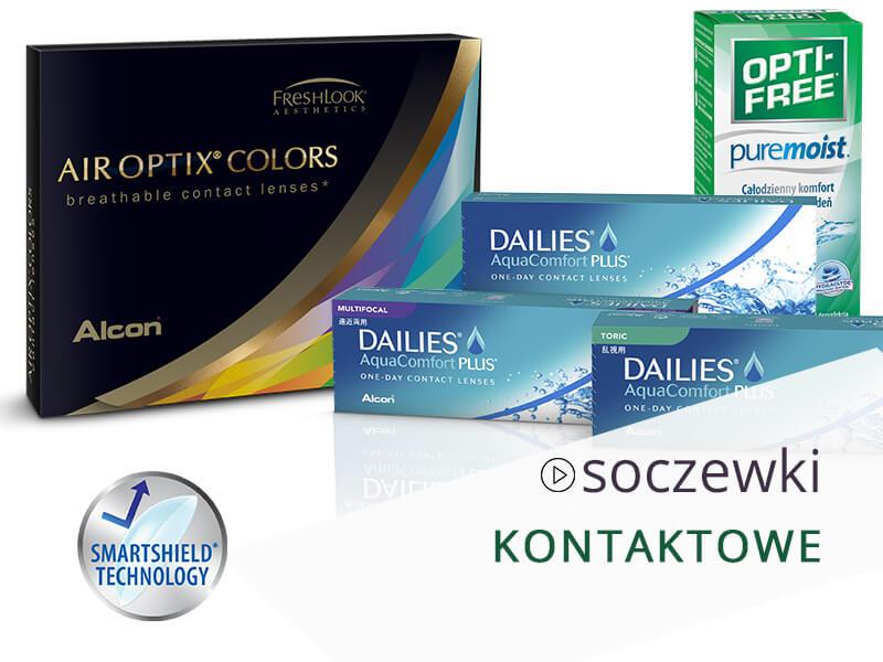 Soczewki kontaktowe to dobra alternatywa dla okularów, pomożemy je wybrać w naszych salonach w Warszawie, Gdańsku i Lublinie.